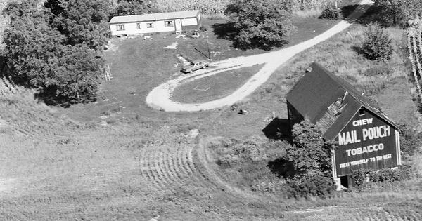 Vintage Aerial photo from 1987 in DeKalb County, IN