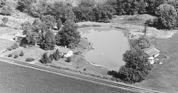 Vintage Aerial photo from 1968 in Bond County, IL