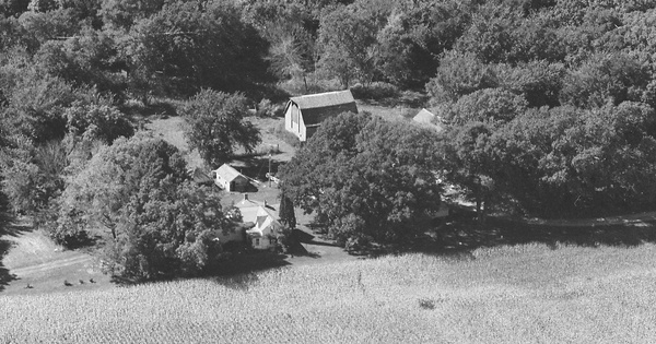 Vintage Aerial photo from 1997 in Blue Earth County, MN