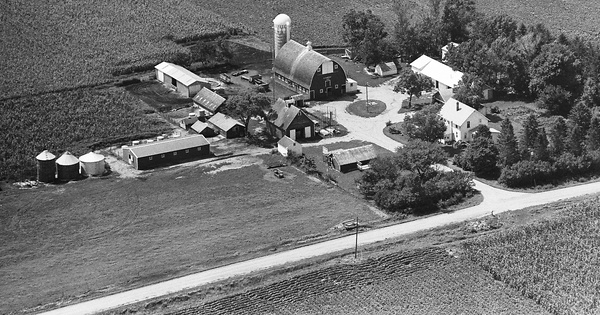 Vintage Aerial photo from 1981 in Kossuth County, IA