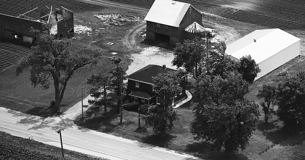 Vintage Aerial photo from 1975 in Will County, IL