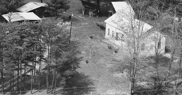 Vintage Aerial photo from 1985 in Franklin County, VA