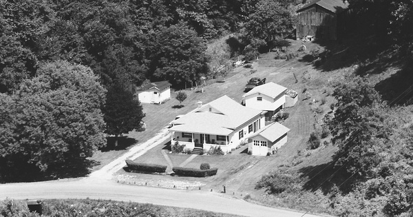 Vintage Aerial photo from 1983 in Lincoln County, WV
