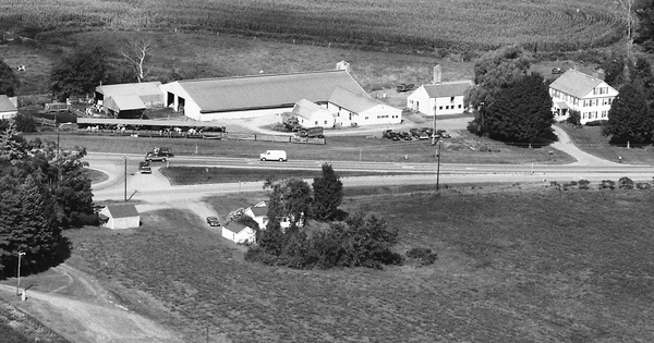 Vintage Aerial photo from 1986 in Cheshire County, NH