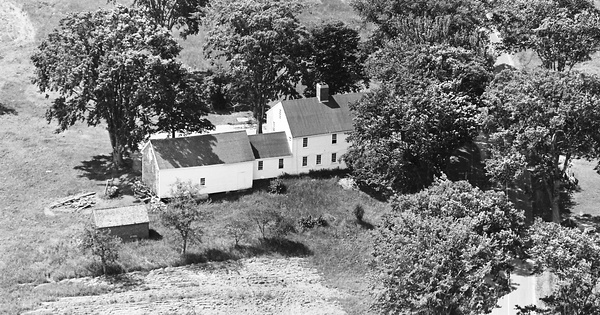 Vintage Aerial photo from 1964 in Sagadahoc County, ME