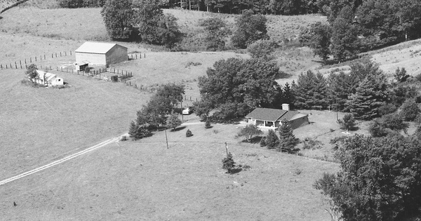 Vintage Aerial photo from 1986 in Dade County, GA