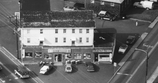Vintage Aerial photo from 1990 in Bucks County, PA