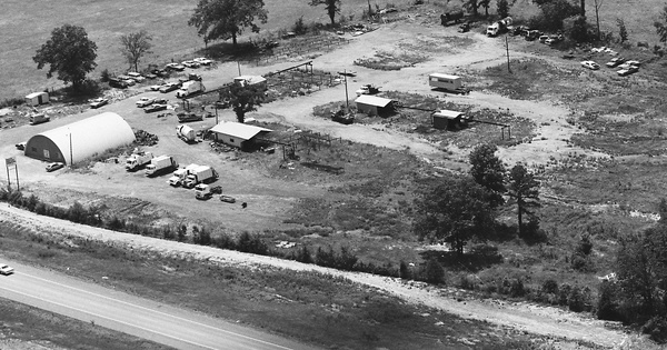 Vintage Aerial photo from 1984 in Sebastian County, AR