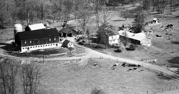 Vintage Aerial photo from 1974 in Bedford County, PA