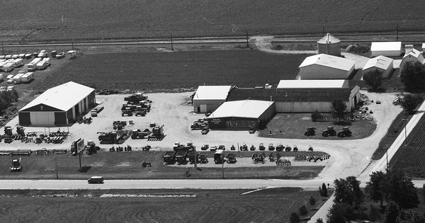 Vintage Aerial photo from 1988 in Kane County, IL