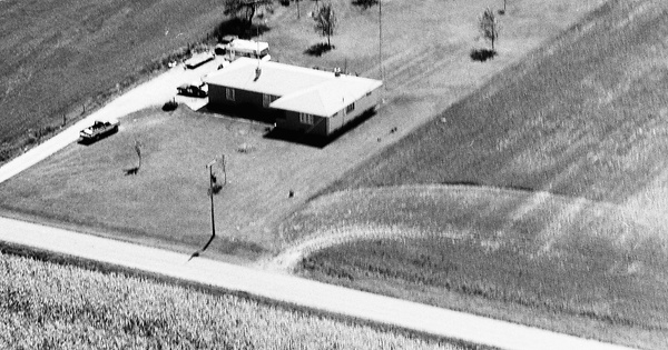Vintage Aerial photo from 1976 in Kane County, IL