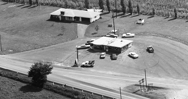 Vintage Aerial photo from 1967 in Centre County, PA