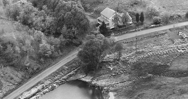 Vintage Aerial photo from 1963 in Monroe County, PA