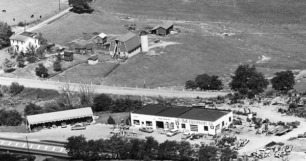 Vintage Aerial photo from 1966 in Westmoreland County, PA