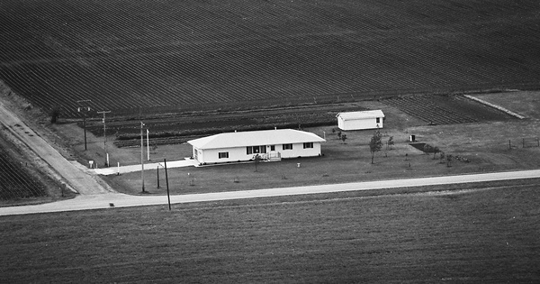 Vintage Aerial photo from 1976 in Piatt County, IL