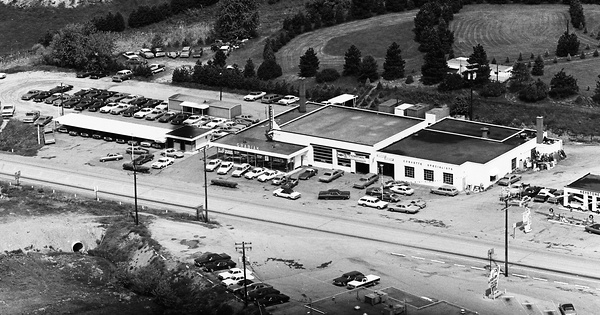 Vintage Aerial photo from 1973 in Westmoreland County, PA