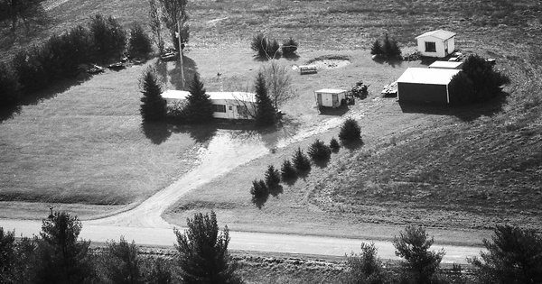 Vintage Aerial photo from 1988 in Sanilac County, MI