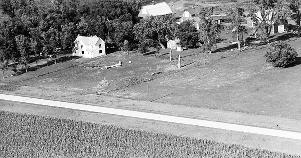 Vintage Aerial photo from 1970 in Osceola County, IA