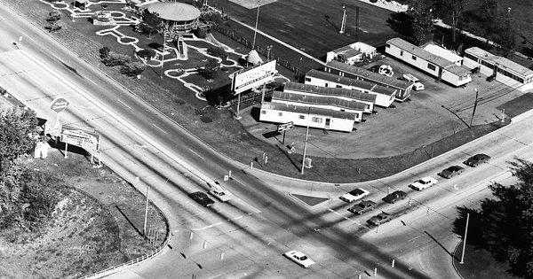 Vintage Aerial photo from 1972 in Marion County, IN