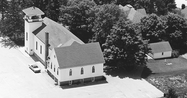 Vintage Aerial photo from 1968 in Ottawa County, MI