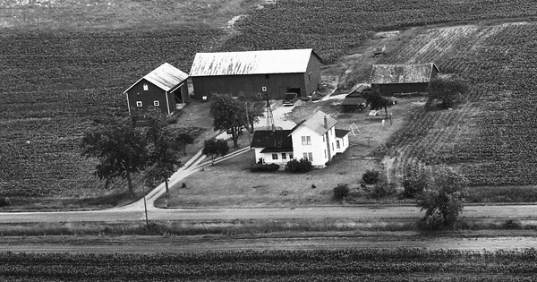 Vintage Aerial photo from 1972 in Ingham County, MI