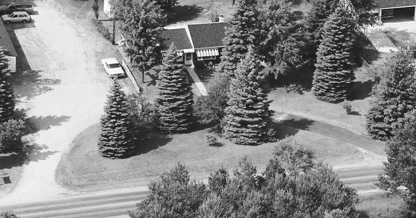 Vintage Aerial photo from 1983 in Livingston County, MI