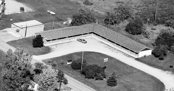 Vintage Aerial photo from 1989 in Alpena County, MI