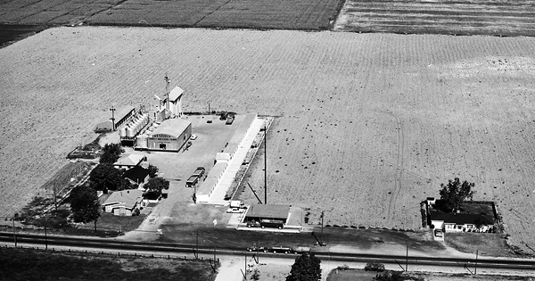 Vintage Aerial photo from 1967 in Monterey County, CA