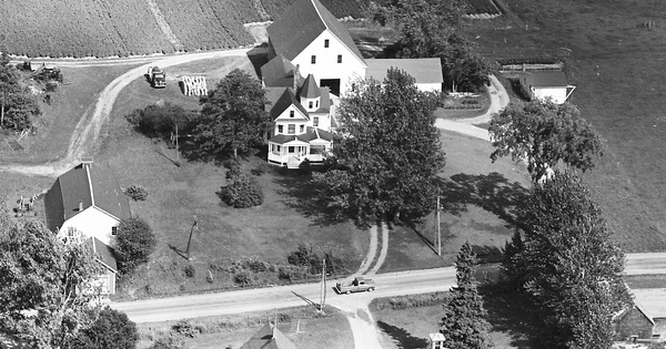 Vintage Aerial photo from 1965 in Aroostook County, ME