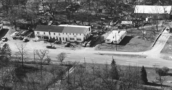 Vintage Aerial photo from 1967 in Frederick County, MD