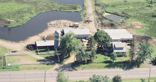 Vintage Aerial photo from 1998 in Sherburne County, MN