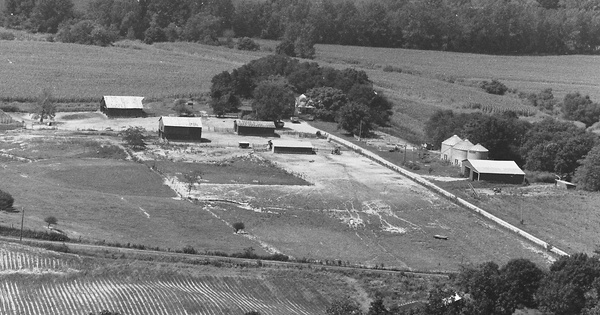 Vintage Aerial photo from 1978 in Cumberland County, IL