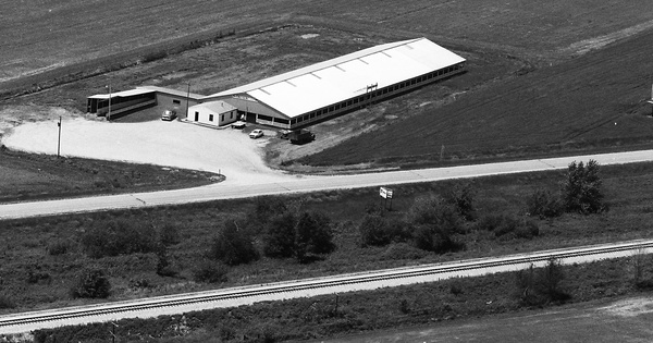 Vintage Aerial photo from 1984 in Macoupin County, IL
