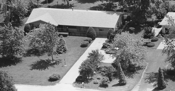 Vintage Aerial photo from 1980 in Kankakee County, IL