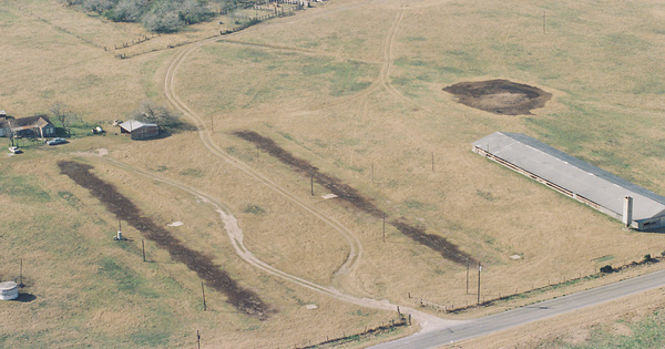 Vintage Aerial photo from 1999 in Kleberg County, TX