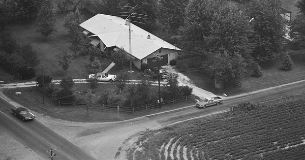 Vintage Aerial photo from 1981 in Johnson County, IN