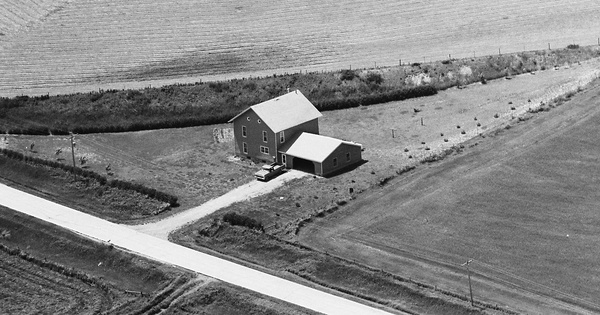 Vintage Aerial photo from 1983 in Ida County, IA