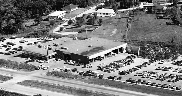 Vintage Aerial photo from 1972 in Dubuque County, IA