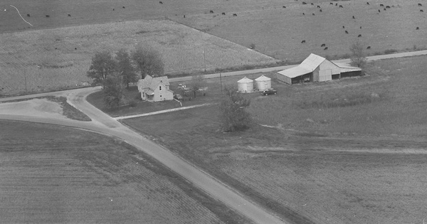 Vintage Aerial photo from 1980 in Richland County, IL