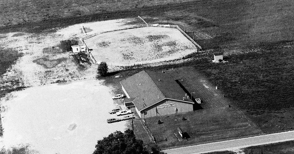 Vintage Aerial photo from 1992 in Iosco County, MI