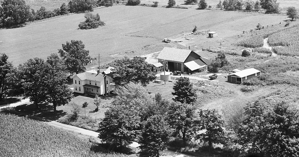 Vintage Aerial photo from 1980 in Branch County, MI