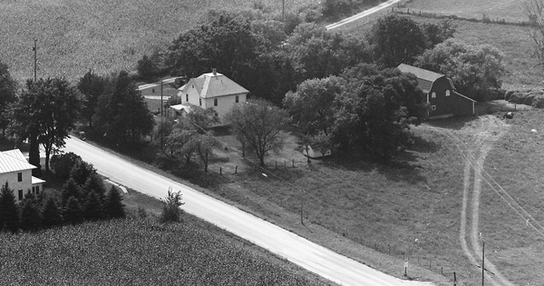 Vintage Aerial photo from 1973 in Jo Daviess County, IL