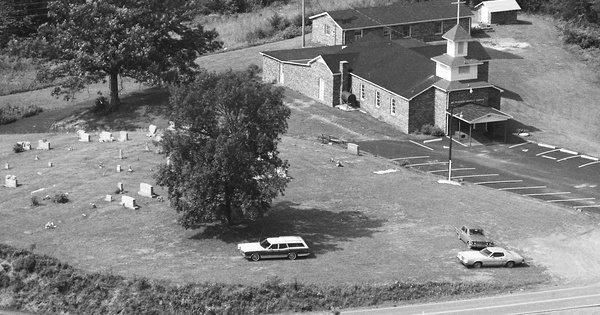 Vintage Aerial photo from 1986 in Surry County, NC