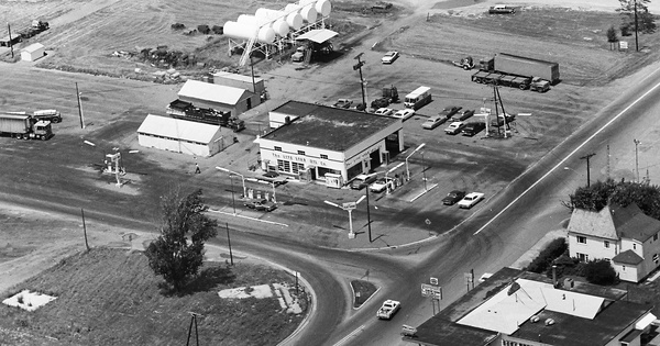Vintage Aerial photo from 1968 in Wyandot County, OH