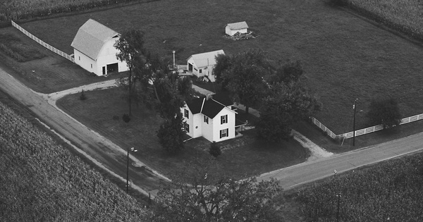 Vintage Aerial photo from 1979 in Champaign County, OH
