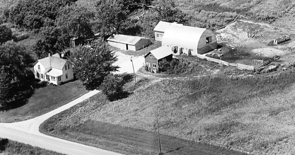 Vintage Aerial photo from 1966 in Wright County, MN