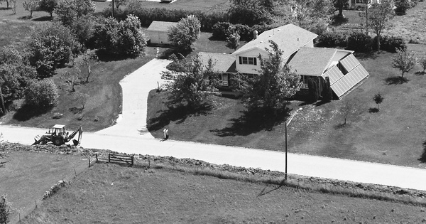 Vintage Aerial photo from 1984 in Richardson County, NE