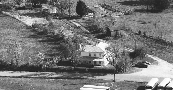 Vintage Aerial photo from 1983 in Goochland County, VA