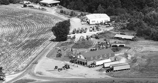Vintage Aerial photo from 1984 in Cumberland County, VA