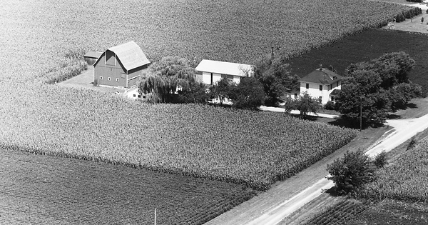 Vintage Aerial photo from 1971 in Will County, IL